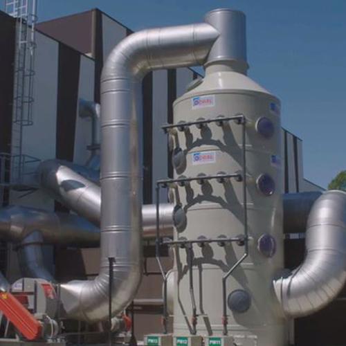 Impianto aspirazione aria e trattamento con biofiltrazione