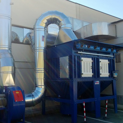 Impianto aspirazione e filtrazione carbonio