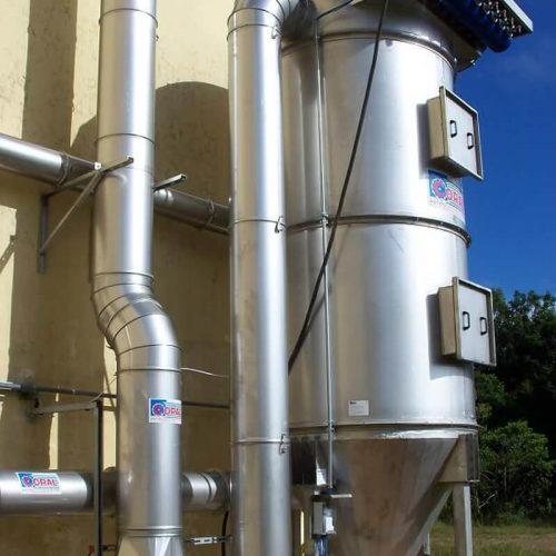 Impianto aspirazione e filtrazione polveri di perclorato di ammonio